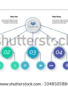 Tree chart with five options organizational business hierarchy diagram creative concept for also stock vector royalty rh shutterstock