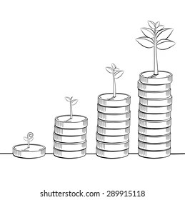 Plant Grow Drawing Images, Stock Photos & Vectors