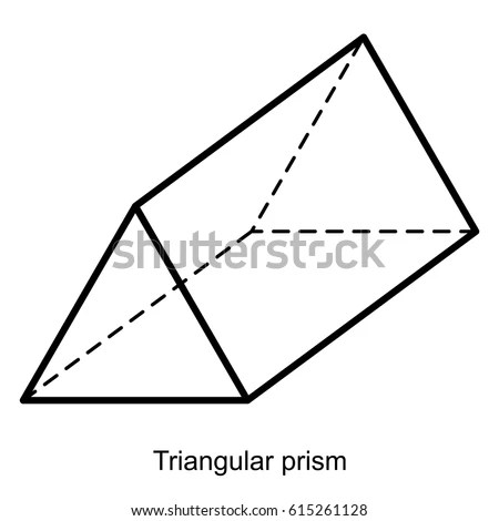 Triangular Prism Vector Geometric Shapes Preschool Stock