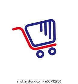 trolley logo images stock