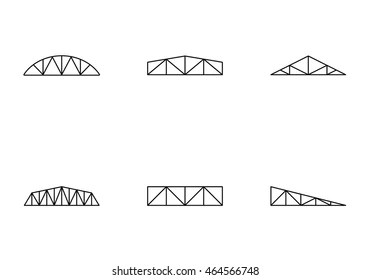 truss style diagram mallory unilite wiring roof trusses images stock photos vectors shutterstock types icons set simple line for web or mobile