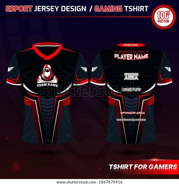 Free design choice via a 3d jersey maker. Gaming Jersey Mockup Free Belajar