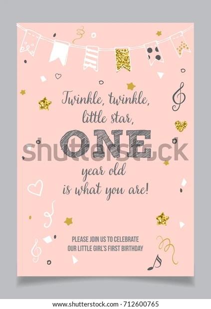 https www shutterstock com image vector twinkle little star girls first birthday 712600765