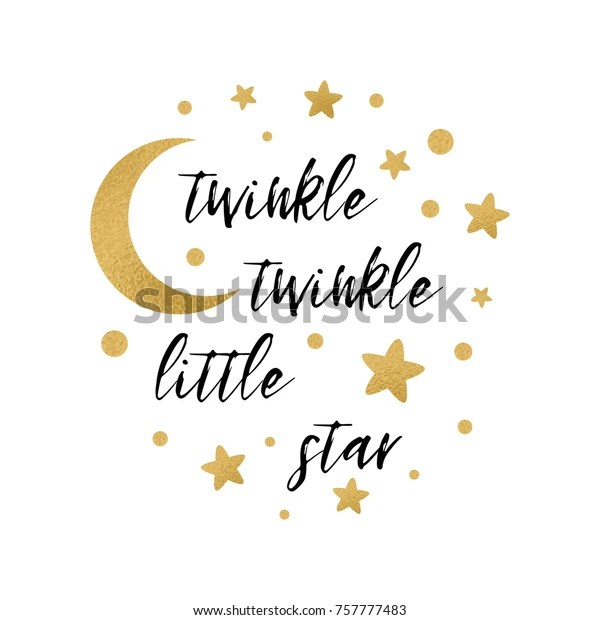 Twinkle Twinkle Little Star Text Cute Stock Vector (Royalty Free) 757777483