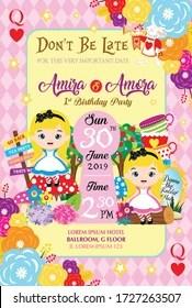 https www shutterstock com image vector twins birthday invitation two little girl 1727263507