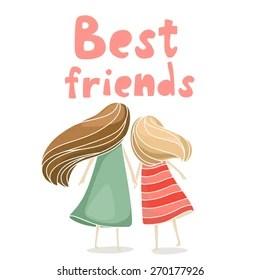 best friends images stock