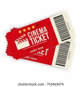 movie ticket images stock