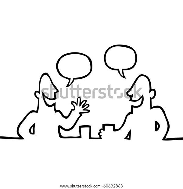Two People Having Conversation Stock Vector (Royalty Free