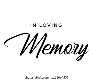 Loving Memory Stock Vectors, Images & Vector Art