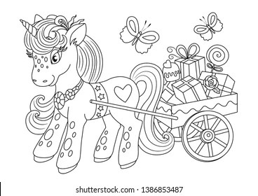Unicorn Colouring Book Images Stock Photos Vectors Shutterstock