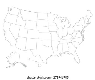 The hundred chart is useful when students are learning to count to 100. Usa Map Outline Images Stock Photos Vectors Shutterstock
