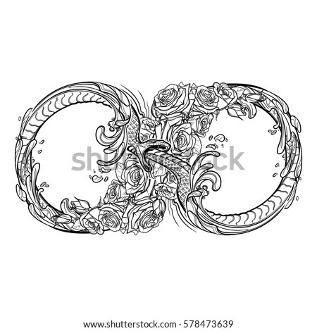 Uroboros Serpent Artistic Decorative Interpretation