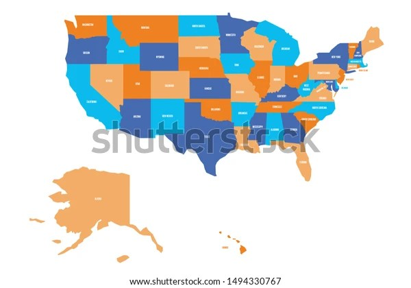 Maps are a terrific way to learn about geography. Us Map Vector Map Usa United Stock Vector Royalty Free 1494330767