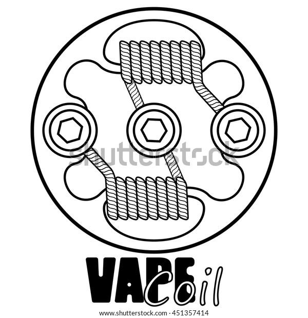 """Stock vektor """"Vape Coil Vector Illustration Vape Vape"""