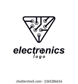 Imágenes, fotos de stock y vectores sobre microchip logo