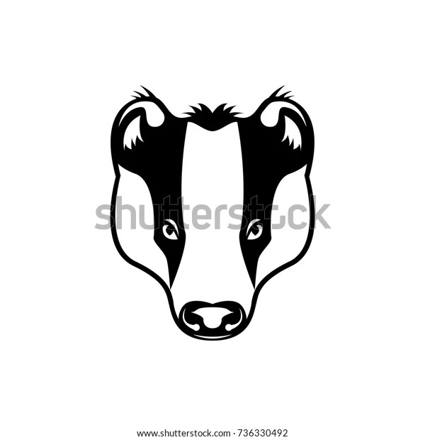 Vector Badger Head Face Retro Hipster Stock Vector