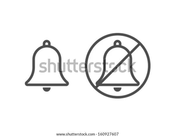 Vector Bell Icon Symbol Stock Vector (Royalty Free) 160927607