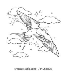 Swallow Flying Stock Vectors, Images & Vector Art
