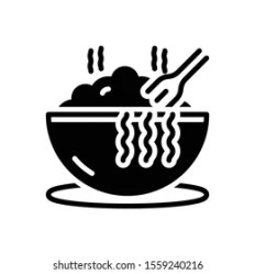 Vector Black Icon Meal Stock Vector Royalty Free 1559240216