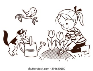 Kids Plant Drawing Images Stock Photos & Vectors Shutterstock
