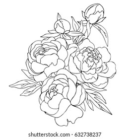 Simple Flower Outline Images Stock Photos Vectors Shutterstock
