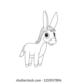 Donkey Coloring Page Images, Stock Photos & Vectors