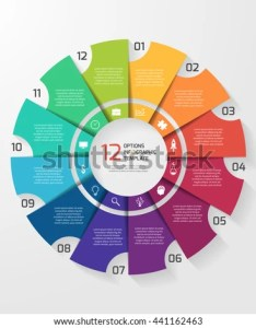 Vector circle infographic template for graphs charts diagrams pie chart concept with also stock rh shutterstock