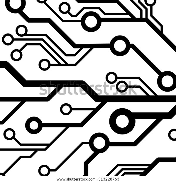 Vector Circuit Board Background Stock Vector (Royalty Free
