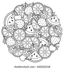 fruit coloring page # 11