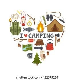 Download Camping Cartoon Images, Stock Photos & Vectors   Shutterstock