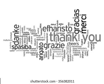 Thank You Different Languages Stock Vectors, Images