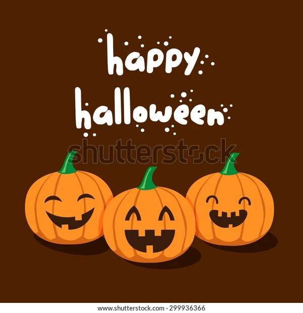 Vector Cute Happy Halloween Design Template Stock Vector Royalty Free 299936366