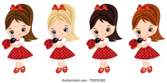 cartoon clip art little girl stock