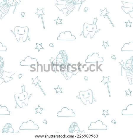 Vector Cute Little Tooth Fairy Wand Stock Vector (Royalty