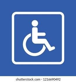 handicap sign images stock