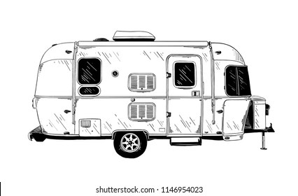Trailer Home Drawing