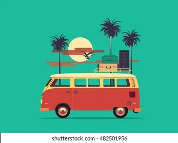 old vw bus stock