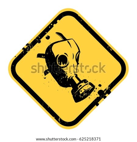 vector gas mask sign