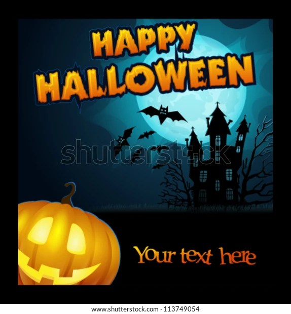Vector Halloween Poster 스톡 벡터(로열티 프리) 113749054