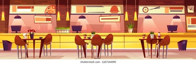 Cartoon Restaurant Background Design