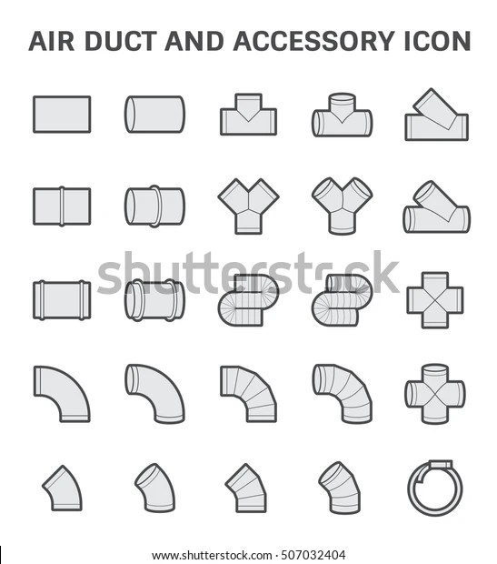Vector Icon Air Duct Accessory Air Stock Vector (Royalty
