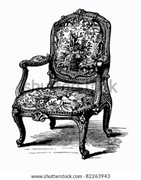 Vector Illustration Baroque Antique Armchair Damask Stock ...