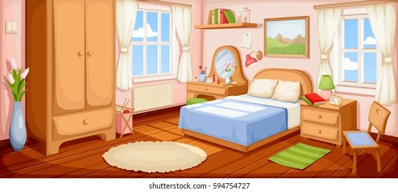 Bedroom Cartoon Images Stock Photos Vectors Shutterstock