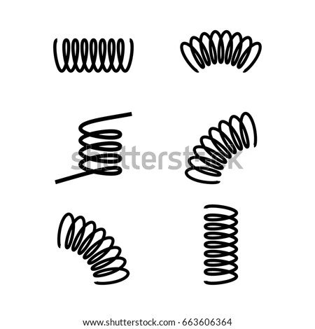 Vector Illustration Black Silhouette Spring Icon 스톡 벡터(사용료