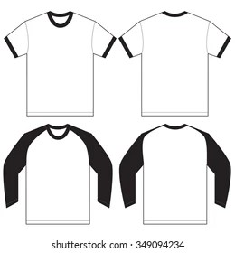 Ringer Tee Template Images Stock Photos Vectors