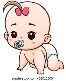 Baby Cartoon Pictures : cartoon, pictures, Cartoon, Newborn, Stock, Images, Shutterstock
