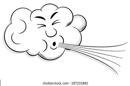 Cloud Blowing Wind Images, Stock Photos & Vectors