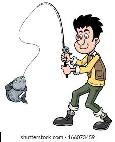 Fishing Pictures Cartoon : fishing, pictures, cartoon, Fishing, Cartoons, Images,, Stock, Photos, Vectors, Shutterstock