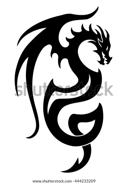 vector illustration dragon tattoo