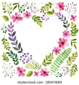 flower heart images stock